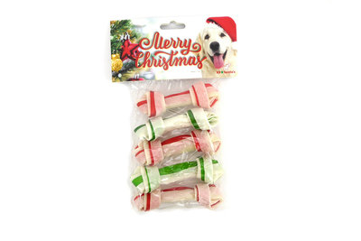 Merry Christmas rawhide dual bone