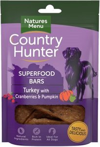 Natures Menu Dog Country Hunter Superfood Bars Turkey