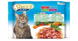 Stuzzy cat multipack ham & konijn in jelly