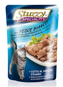 Stuzzy cat Speciality Witte Vis