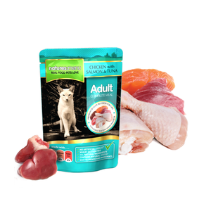 Natures Menu Adult Cat - Kip met Zalm & Tonijn